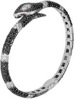 John Hardy Women's Cinta Legends Cobra Bracelet, 18K, Diamonds, White Pave Black Diamond (0.02ct)