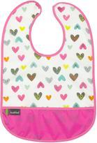 Kushies Cleanbib 6-12M White Doodle Hearts