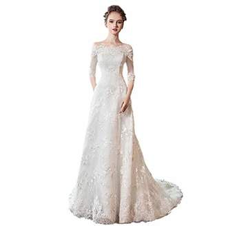 YC electronics Evening Dresses Women's Floor Long Wedding Dress Breathable Wedding Dress Retro Fringed Dress Bride Wedding Evening Dress Wedding Dresses (Color :