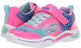 Skechers Sport Lighted - Power Petals-Painted 20335N (Toddler) (Neon Pink/Multi) Girl's Shoes