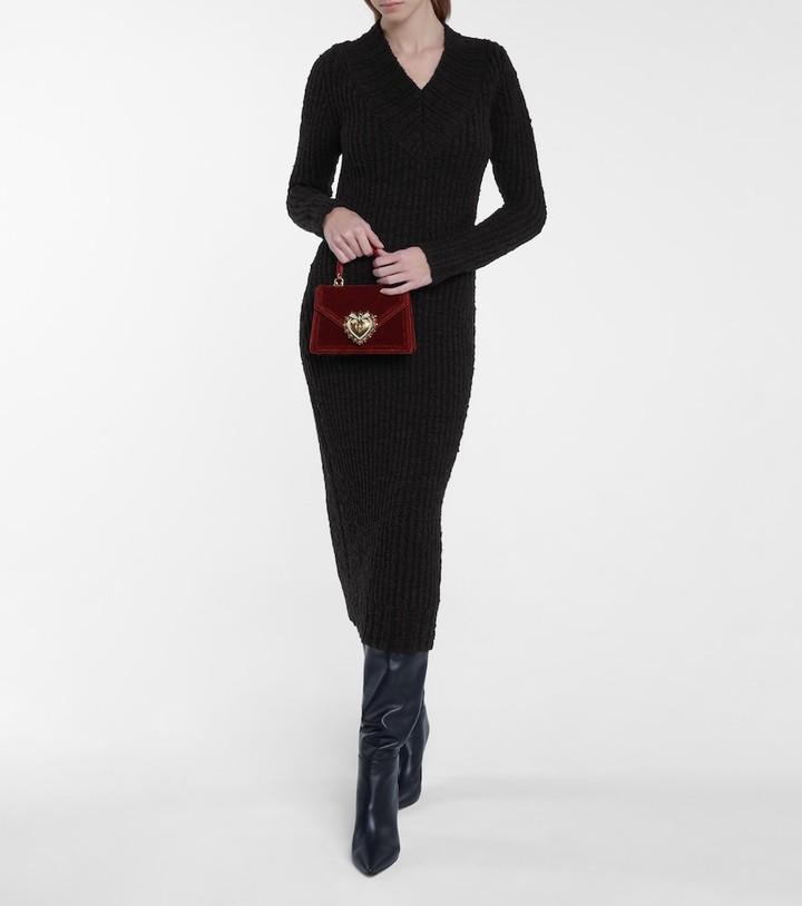 Dolce & Gabbana Stretch-wool knit midi dress