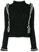 philosophy Women's Black Wool Sweater.
