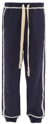 Loewe Logo-embroidered Cotton Track Pants - Navy