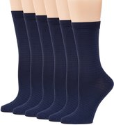Peds Women's Dress Crew Socks 6 Pairs