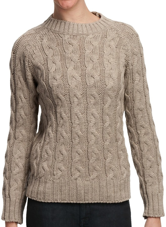 J.G. Glover & CO. Peregrine by J.G. Glover Merino Wool Sweater - Cable Knit (For Women)