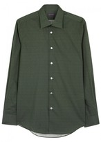 Pal Zileri Geometric-print Cotton Shirt