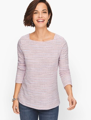 Talbots Square Neck Long Sleeve Tee