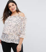 Lovedrobe Off The Shoulder Ruffle Blouse In Floral