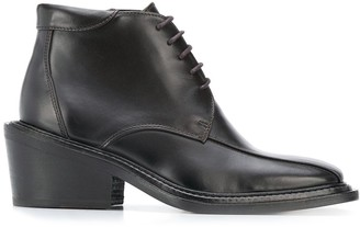 Martine Rose Lace-Up Ankle Boots