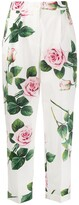 Dolce & Gabbana rose print tailored trousers