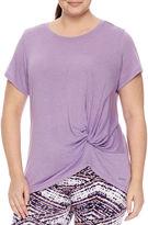 Spalding Short Sleeve Crew Neck T-Shirt-Womens Plus