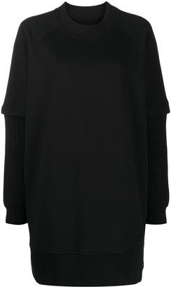 MM6 MAISON MARGIELA Layered Sleeve Sweatshirt Dress