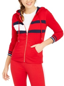 Tommy Hilfiger Colorblocked Zippered Hoodie