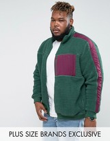 Puma Plus Borg Jacket In Green Exclusive To Asos