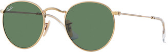 Ray-Ban Men's Round Metal Sunglasses, Green