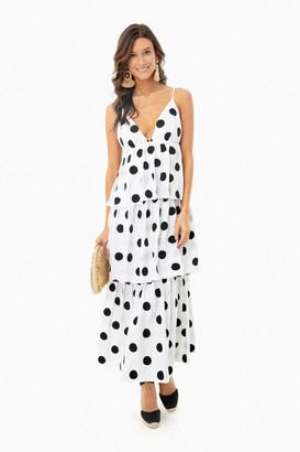 Mara Hoffman White and Black Bari Dress