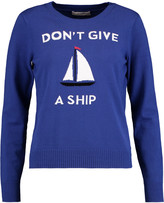 Milly Don't Give A Ship intarsia-knit sweater
