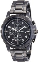 Fossil Men's FS4721 Dean Smoke-Tone Stainless Steel Chronograph Watch