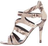 Giuseppe Zanotti Embossed Leather Stiletto Sandals