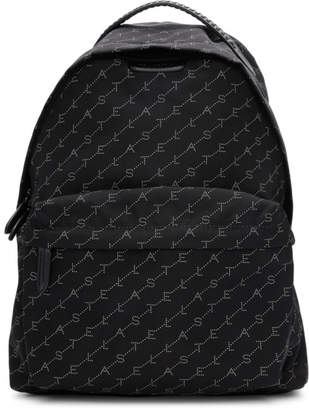 Stella McCartney Black Monogram Falabella Backpack