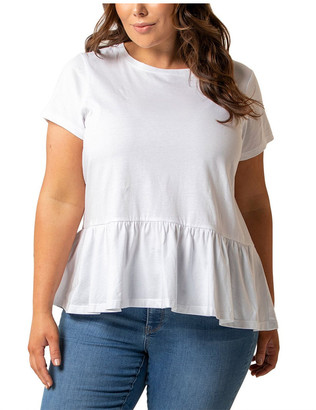 Forever New Curve Chantelle Curve Short Sleeve Smock Tee