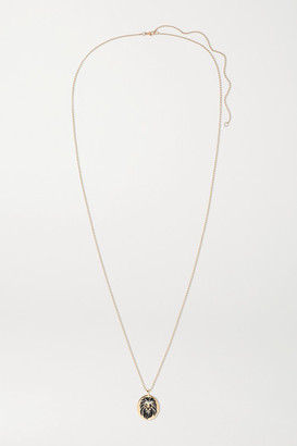 Diane Kordas 18-karat Rose Gold, Enamel, Diamond And Sapphire Necklace