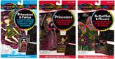 Melissa & Doug Scratch Art Princess, Fairy, And Butterflies & Flowers Color-Reveal Bundle