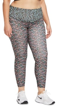 Nike One Plus Size Floral-Print Women's Tights
