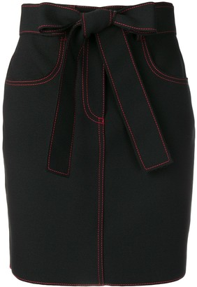 MSGM Contrast Stitch Mini Skirt