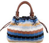 M Missoni Drop Stitch Knit Shoulder Bag