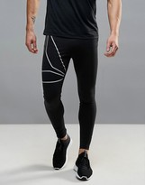Reebok Running OSR Reflective Tights In Black B47127