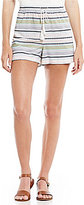 Copper Key Striped Tassel-Tie Soft Shorts