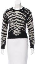 Saint Laurent Patterned Mohair Sweater