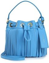 Juicy Couture Topanga Fringe Leather Mini Drawstring