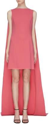 Oscar de la Renta Sleeveless cape dress