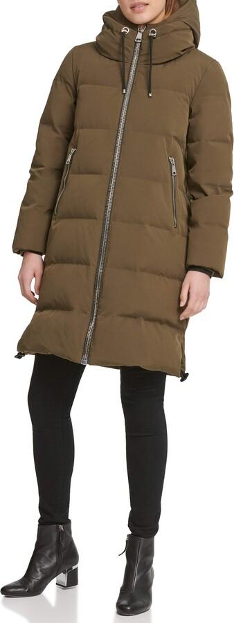 DKNY Women's Down Puffer Down Coat