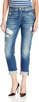 7 For All Mankind Women's The Relaxed Skinny with Destroy Girlfriend Jean
