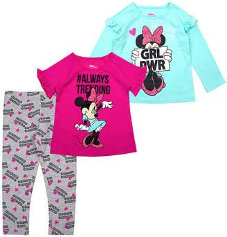 DISNEY MINNIE MOUSE Disney Girls 3-pc. Minnie Mouse Legging Set-Toddler