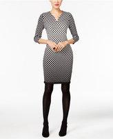 ECI Geo-Print Sheath Dress