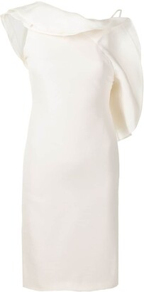 Gucci Pre-Owned Ruffle Detail Fitted Dress