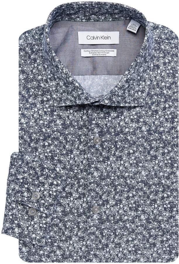 Calvin Klein X-Fit Slim Printed Dress Shirt