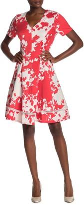 Robbie Bee Floral Print Fit & Flare Dress