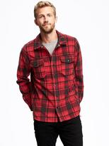Old Navy Plaid Performance Fleece Shirt Jacket for Men