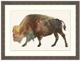 Pottery Barn Buffalo Impression Framed Print
