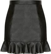 City Chic Stud Frill Skirt