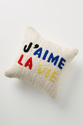 """Clare Vivier for Anthropologie Maisonette Jute Pillow By in Assorted Size 18"""" SQ"""