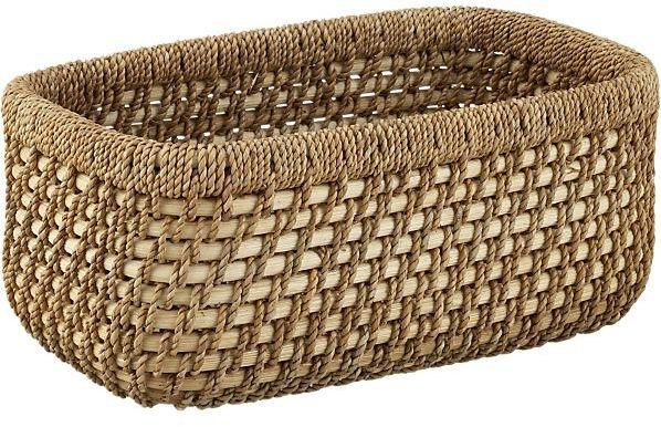 Crate & Barrel Vanju Small Low Basket
