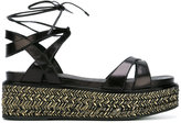 Sergio Rossi strappy platform sandals - women - Leather/rubber - 36