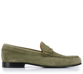 Canali Stitched Detail Loafers