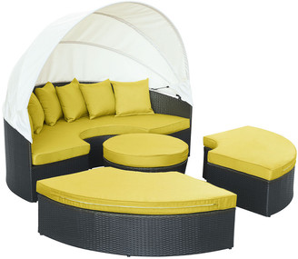 Modway Outdoor Quest Canopy Outdoor Patio Daybed